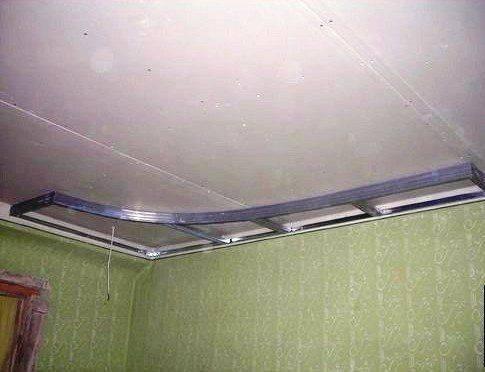 Потолок из гипсокартона инструкция с видео на кухне