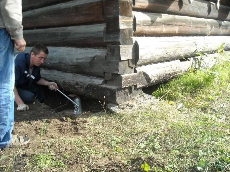 Как правильно поднять старый бревенчатый дом