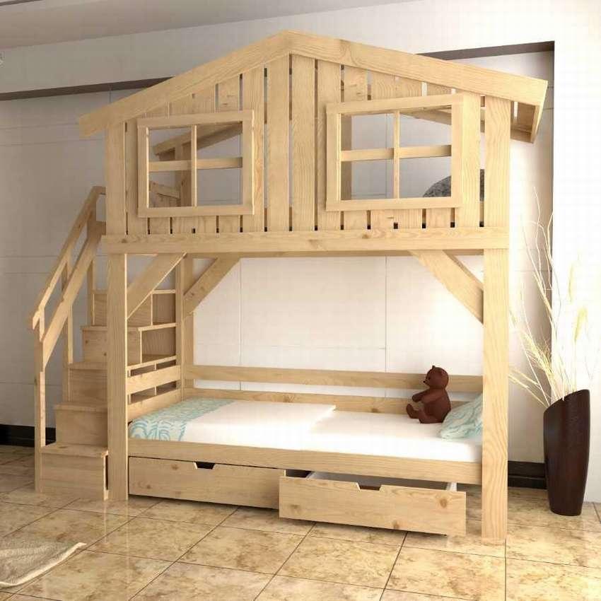 Двухъярусная кровать своими руками из дерева: размеры и монтаж!