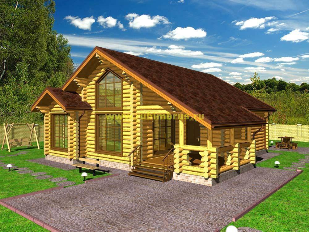 Одноэтажные бревенчатые дома: преимущества и интересные проекты