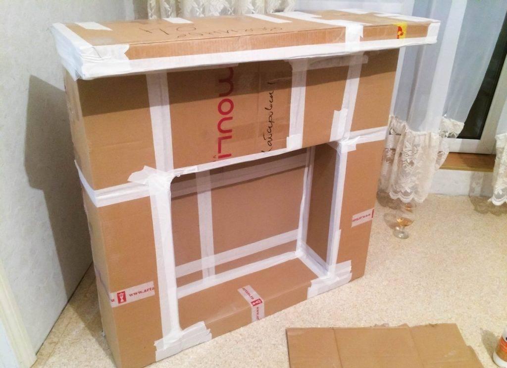 Камин из картона своими руками (100 фото): как сделать картонный макет, мастер-класс по изготовлению декоративного изделия, пошаговая инструкция по созданию конструкции