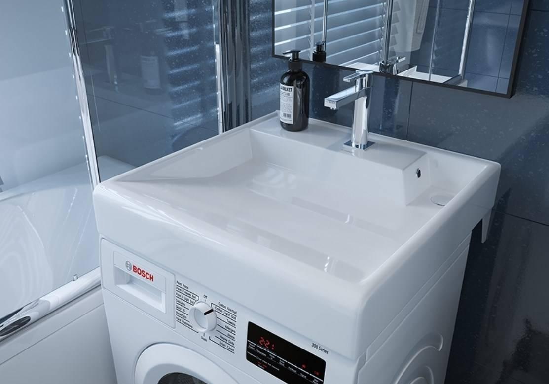 Раковины над стиральной машиной: какие бывают?