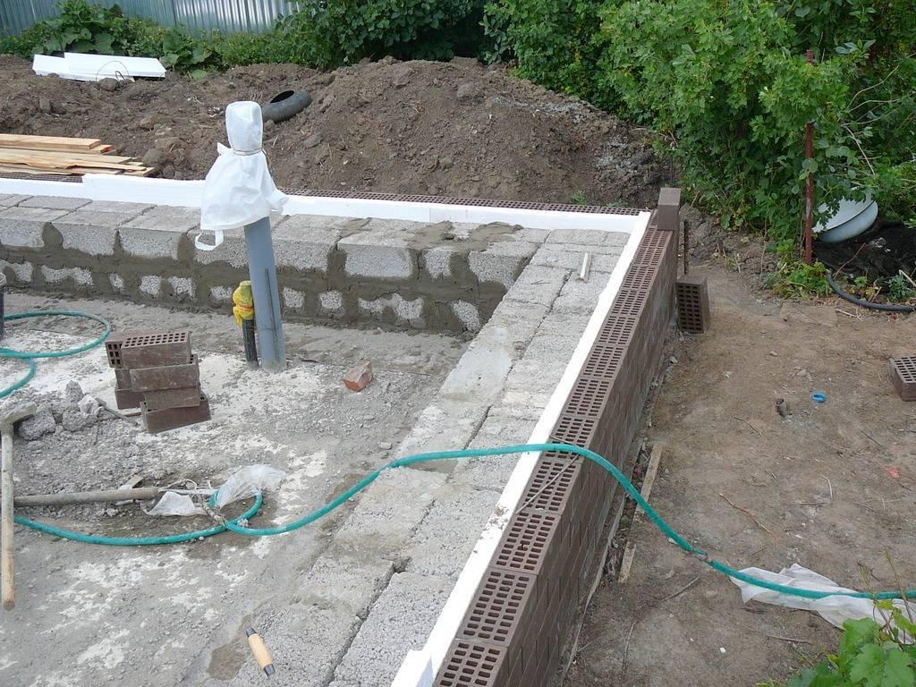 Фундамент для здания из железобетонных блоков