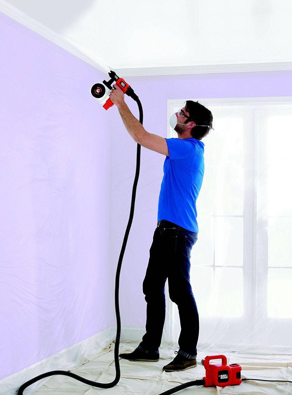 Покраска потолка электрическим краскопультом - советы и видео