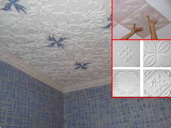 Можно ли на побелку клеить потолочную плитку и как правильно это делать?