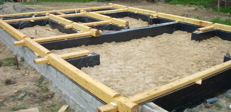 Расчет фундамента под дом из бруса (формулы)