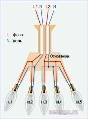 Как подключить люстру – советы электрика