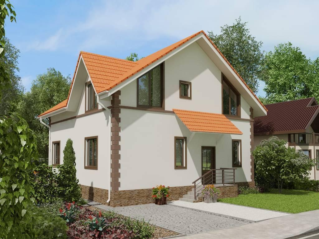 Недорогие дома из пеноблоков
