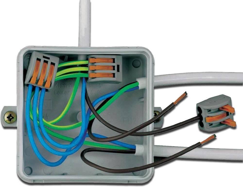 Соединение проводов в распределительной коробке: видео, схемы, фото