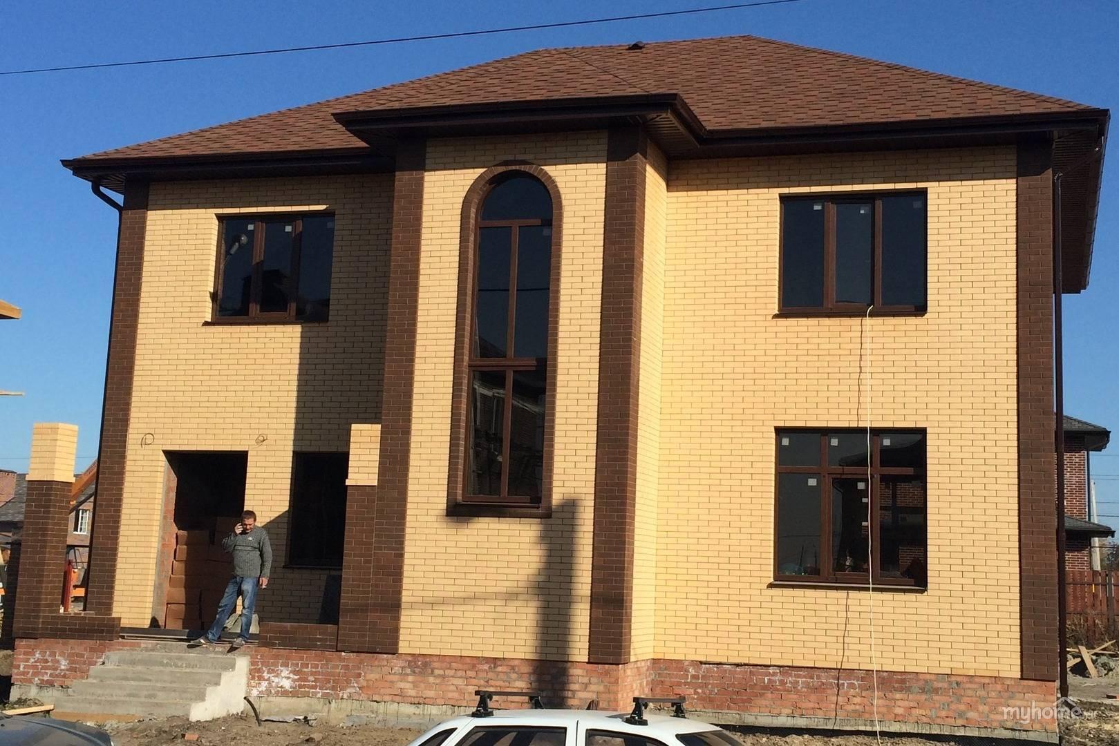 Дом из облицовочного кирпича цвет солома - строительный журнал palitrabazar.ru