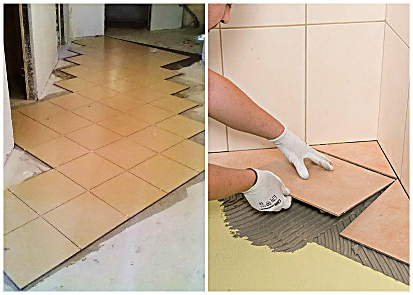 C чего начать укладку плитки в ванной — куда класть первую плитку (видео, фото)
