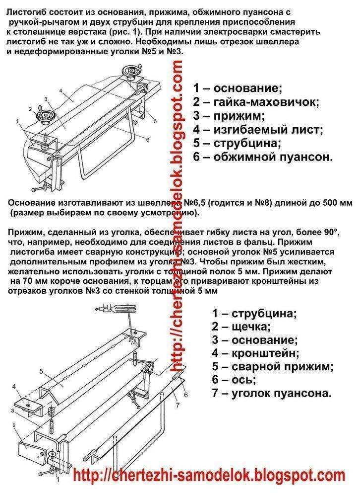 Листогибочный станок своими руками: как сделать оборудование для гибки металла, видео и фото