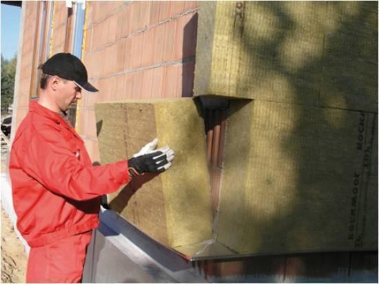 Утепление фасада дома минеральной ватой своими руками
