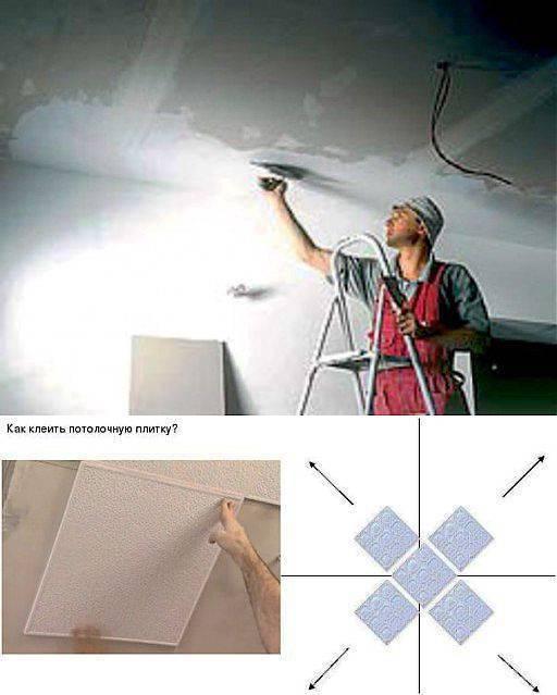 Как клеить плитку на потолок: подробная инструкция