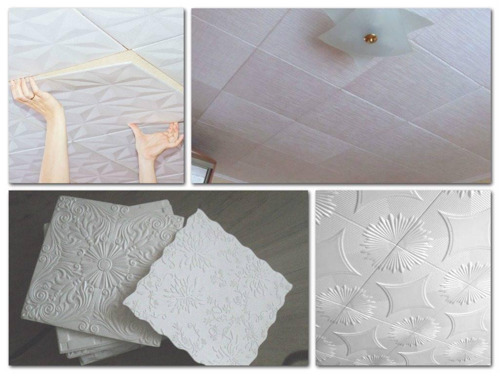 Как клеить потолочную плитку: бесшовный потолок своими руками