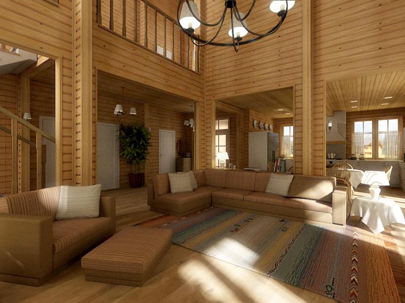 Дом из клееного бруса — фото внутри и снаружи, проекты с планировками — 145 фото
