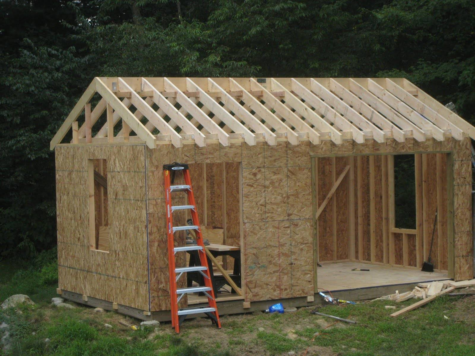 Как построить садовый домик своими руками: дачные домики эконом-класса из бруса и щитовые