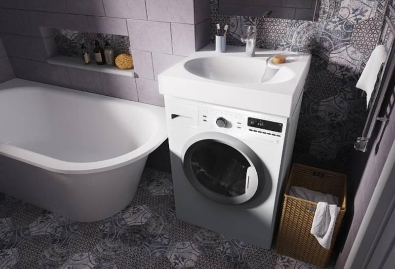 Универсальный вариант для небольшой ванной или кухни - установить раковину над стиральной машиной: расскажем подробно, как это сделать + пошаговая инструкция по установке