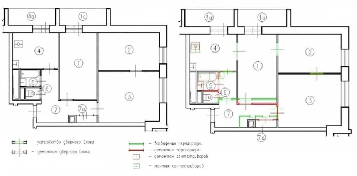Интересные варианты планировок 2-х и 3-х комнатных хрущевок | папа мастер!