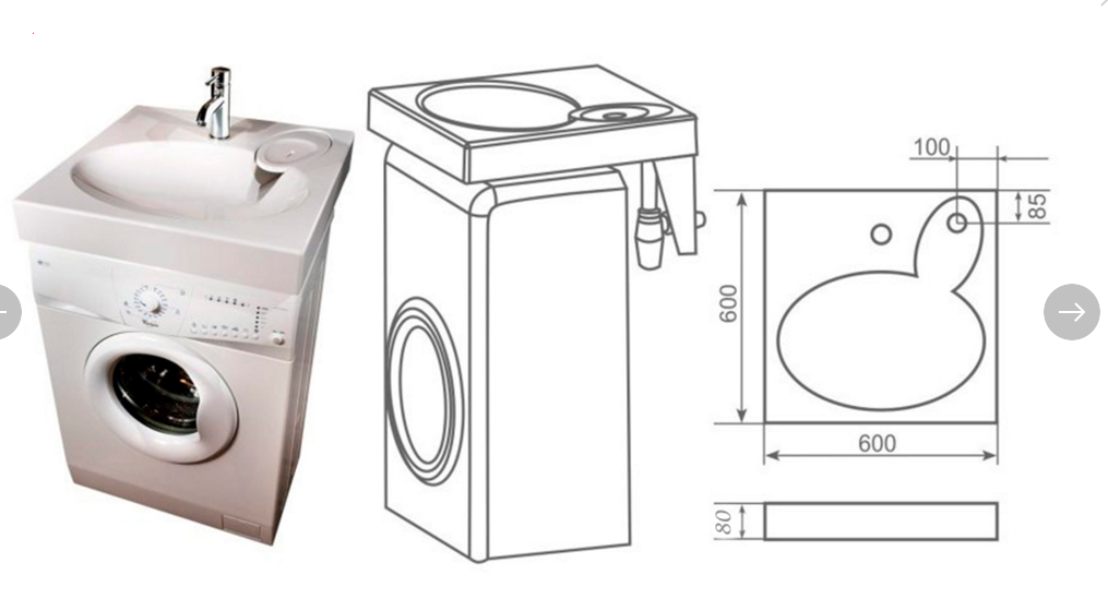 Раковина над стиральной машиной – установка стиральной машины под раковину в ванной