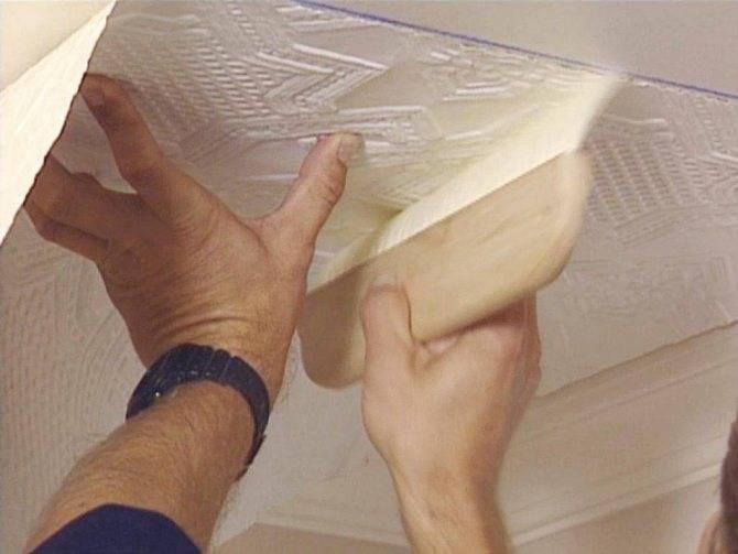 Совет: чем отмыть потолочную плитку из пенопласта от копоти на кухне