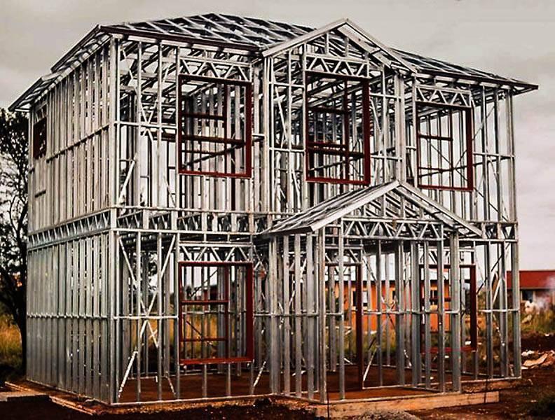 Каркас из профильной трубы: как построить дом из профтрубы, здание бани своими руками
