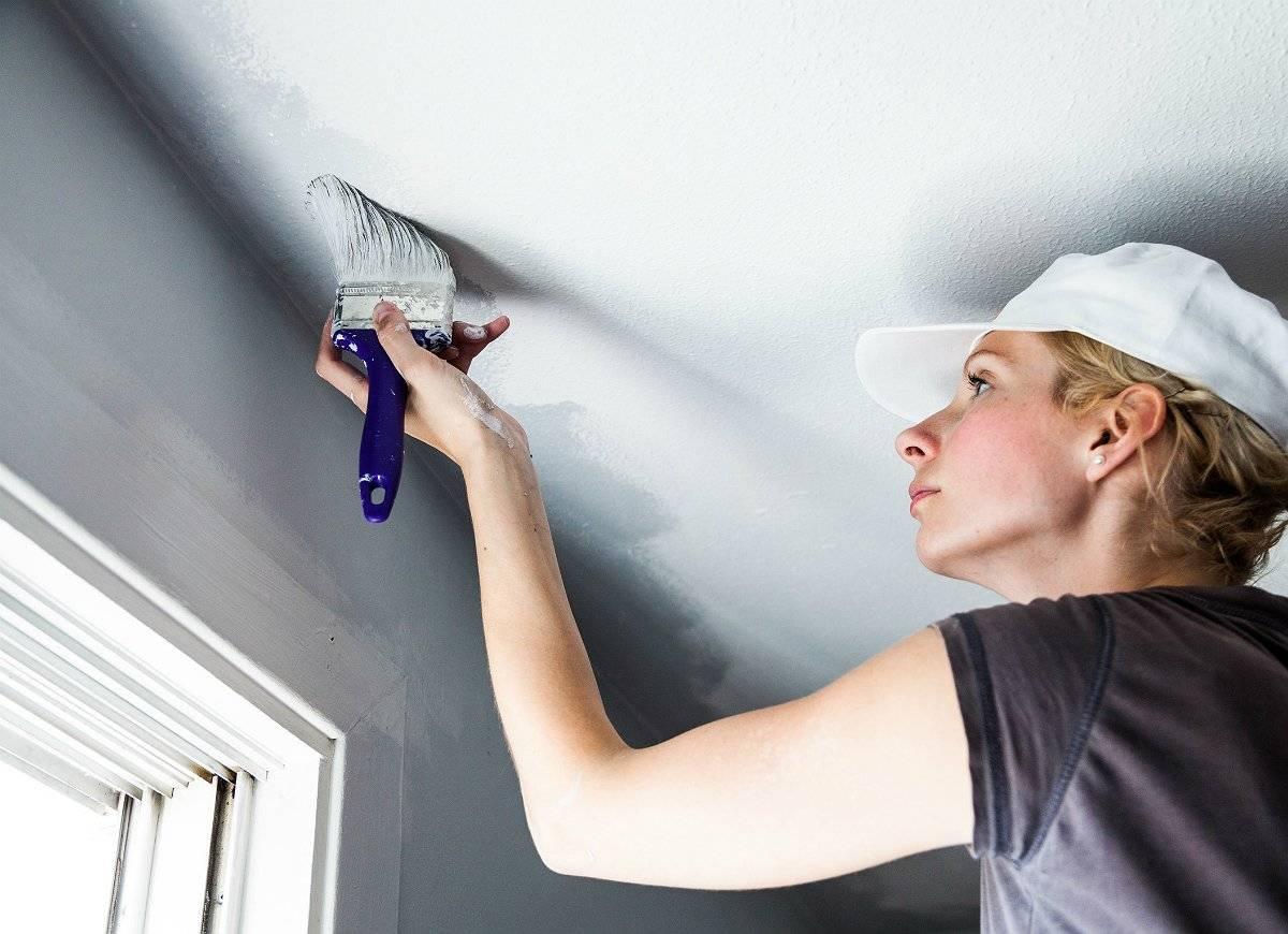 Побелка потолка: что выбрать водоэмульсионную краску или меловую