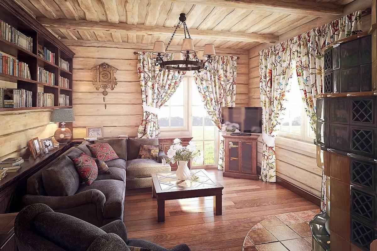 Обустройство внутреннего интерьера деревянного дома