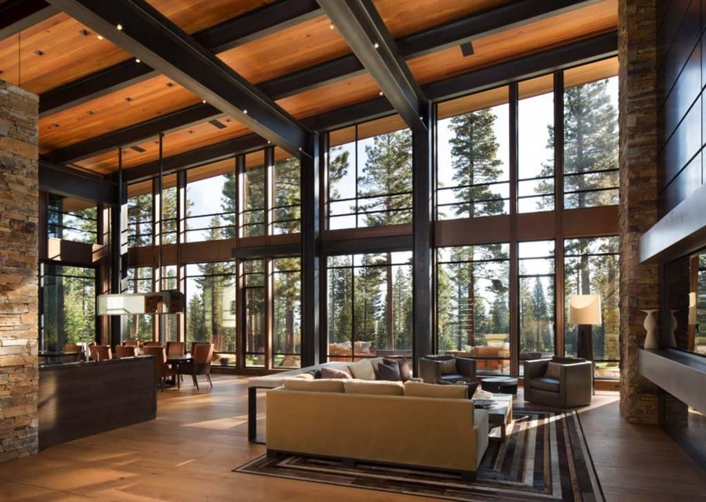 ????дизайн интерьера дома из клееного бруса - блог о строительстве