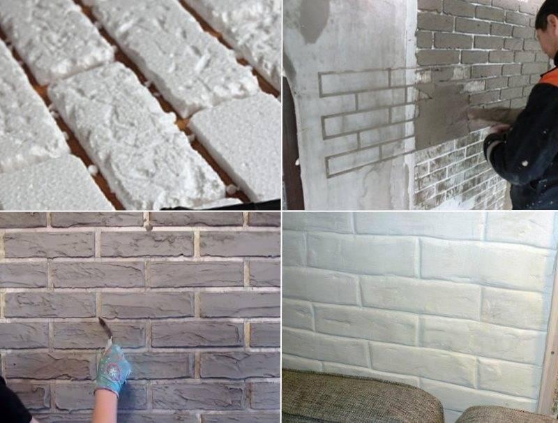Имитация кирпичной стены своими руками - пошаговая инструкция!