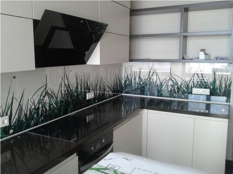 Кухонный фартук из стекла, скинали: 100 шикарных идей дизайна с фото