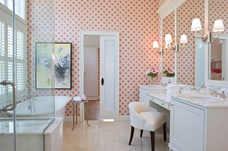 Самоклеющиеся обои для ванной комнаты: выбор и приклеивание