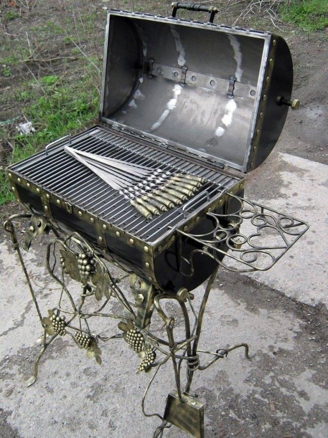 Мангал из металла своими руками - 3 схемы изготовления.