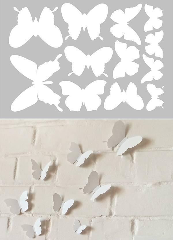 Украшение стен бабочками: шаблоны, порядок изготовления и оформления, видеоинструкция