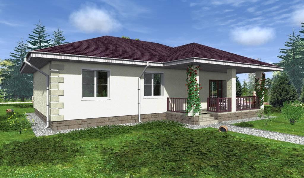 Проекты одноэтажных домов из пеноблоков с планировкой до 100 м2