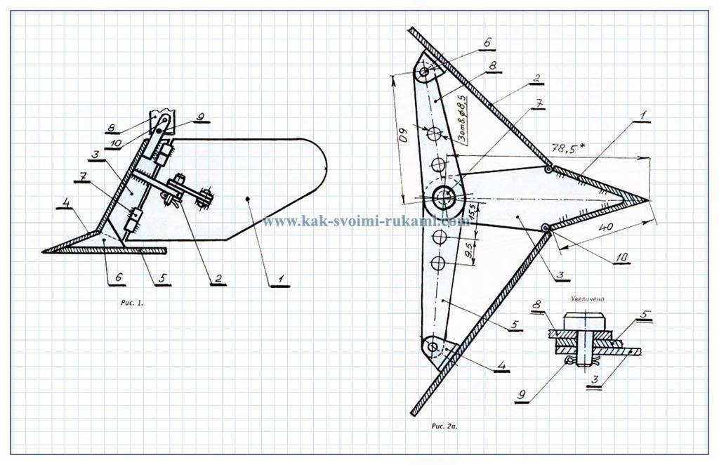 Как сделать плуг для мотоблока своими руками?— проще простого используй наши чертежи и фото