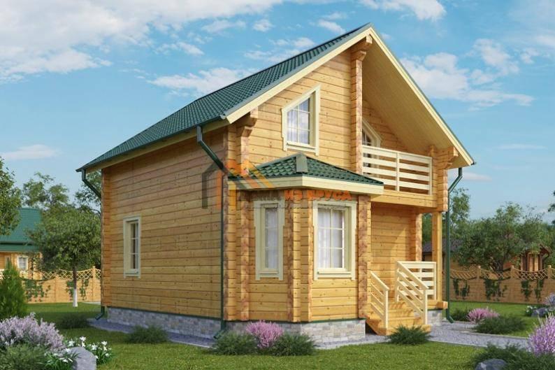 Строительство дома из бруса с эркером