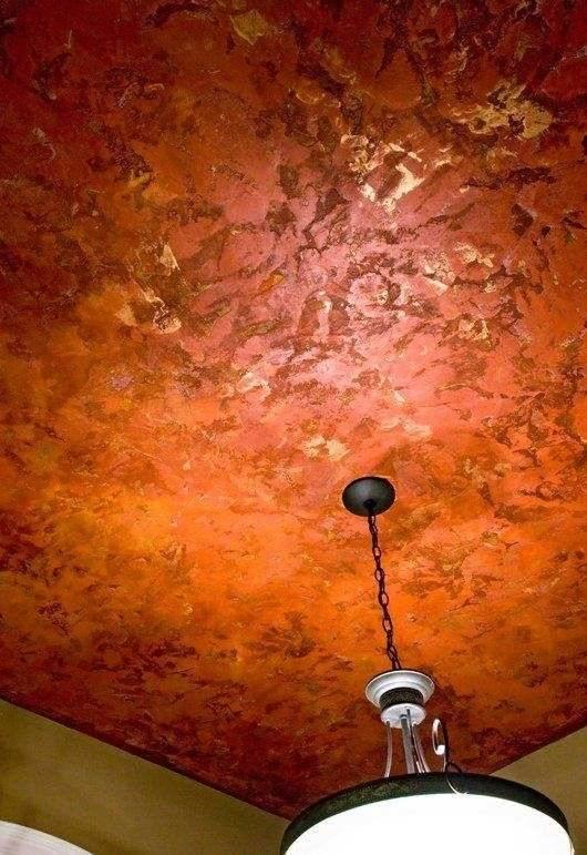 Декоративная штукатурка на потолок: особенности отделки (фото)