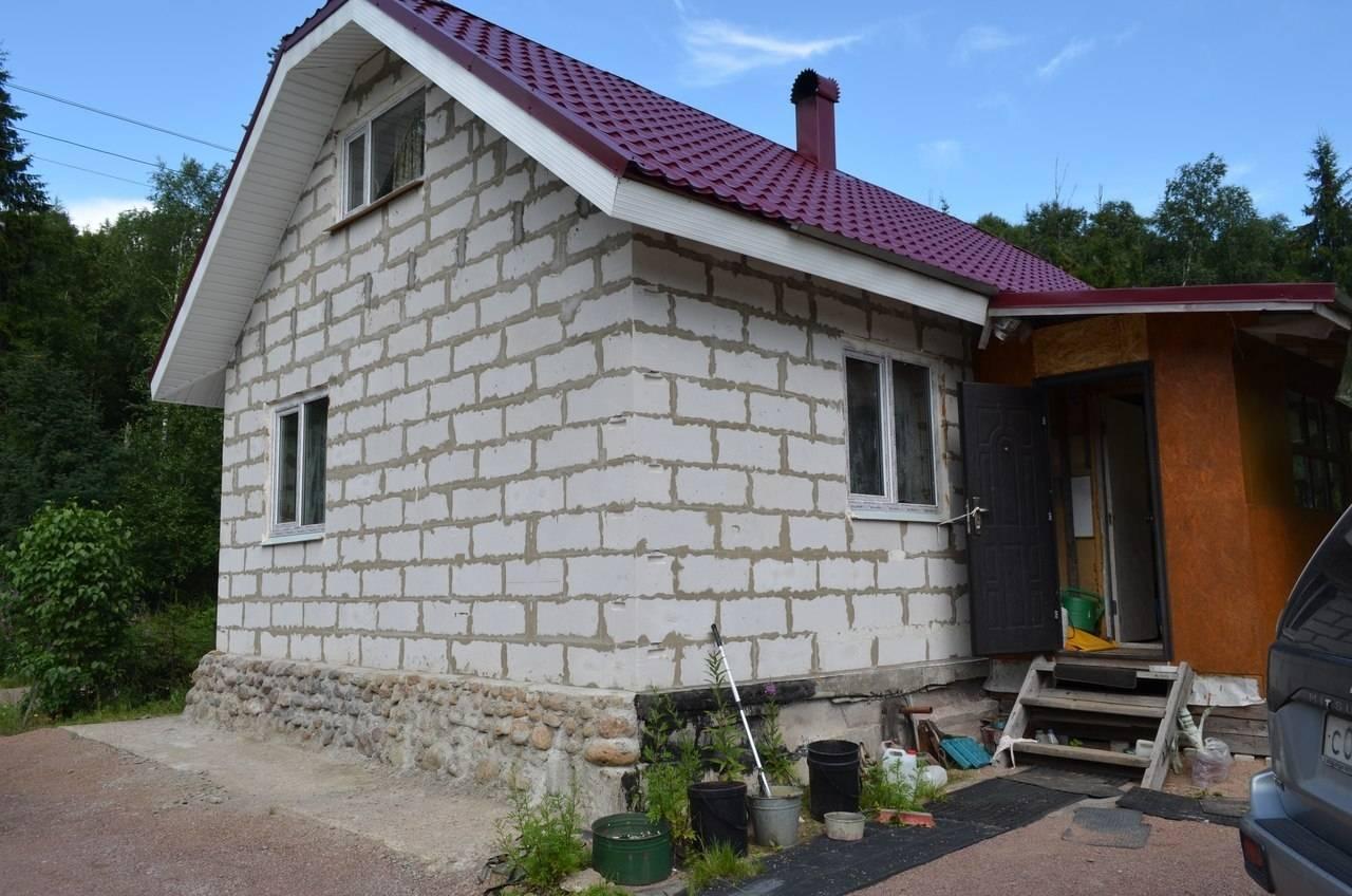Дачный дом из пеноблоков: строительство и проекты под ключ, фото