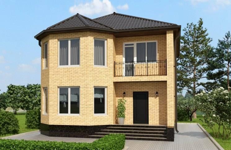 Проекты двухэтажных домов из кирпича