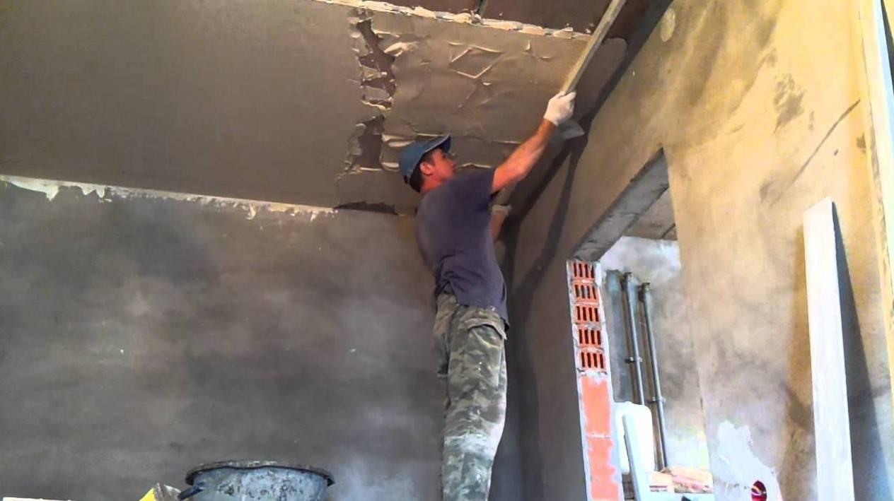 Штукатурка потолка своими руками. выравнивание потолка штукатуркой