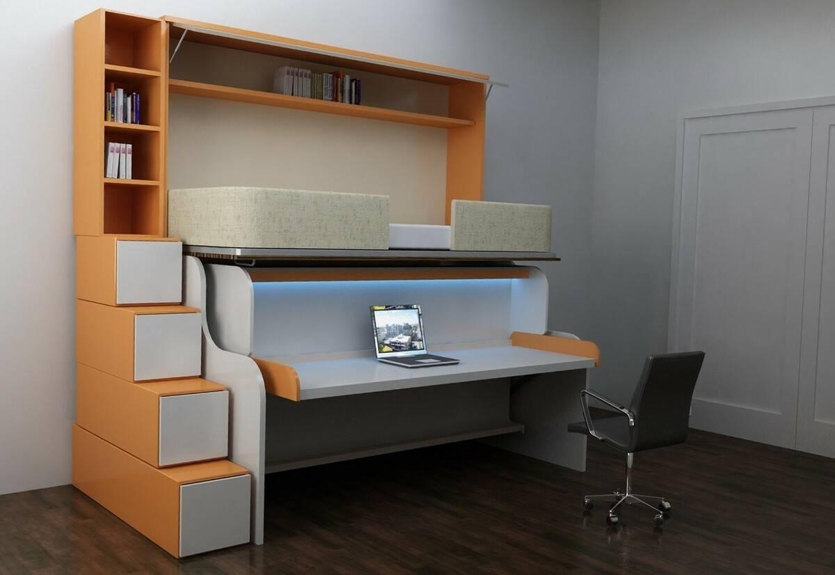 Компактные кухни трансформеры. трансформируемая мебель (35 фото)