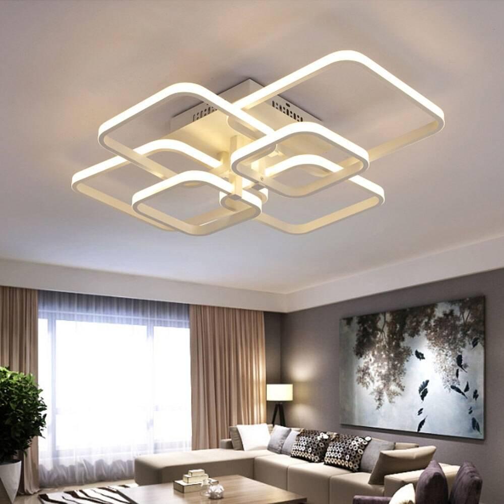 Светодиодные люстры для натяжных потолков: правильно подбираем потолочные светильники с пультом и без