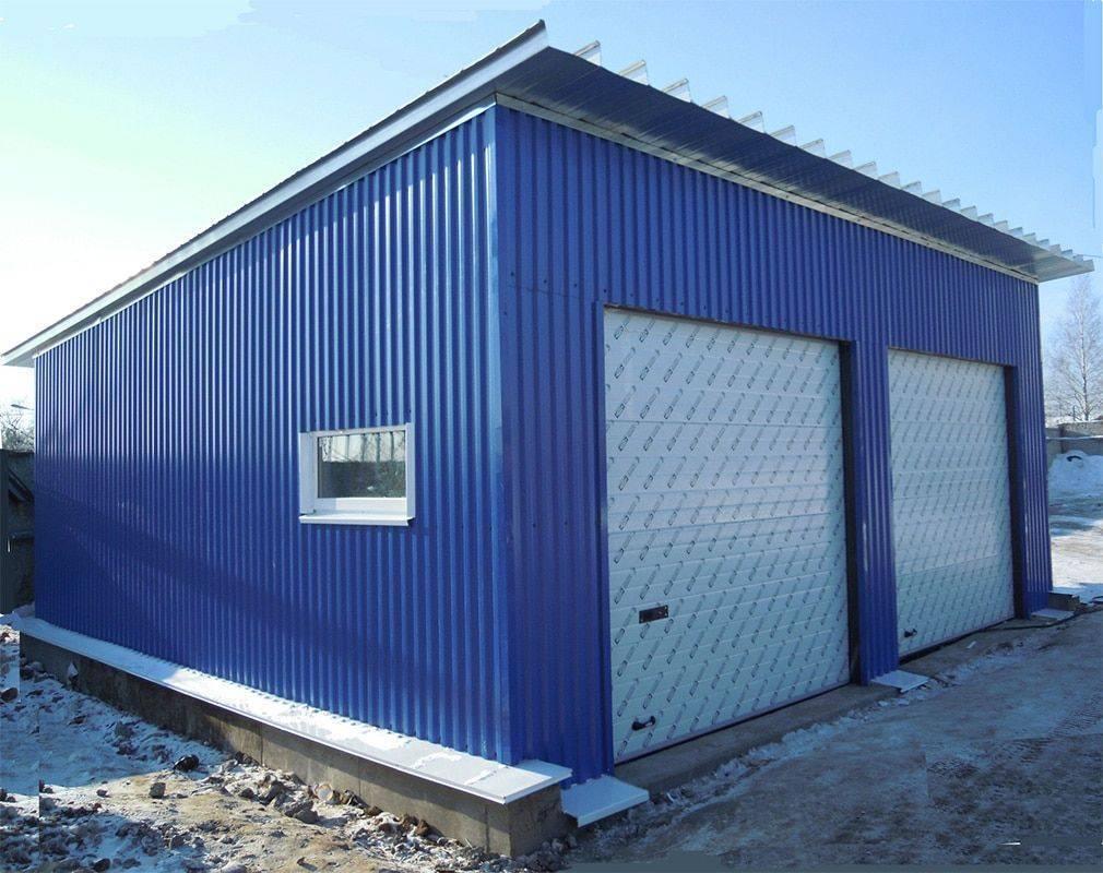 Строительство гаража из профнастила своими руками: порядок действий и рекомендации
