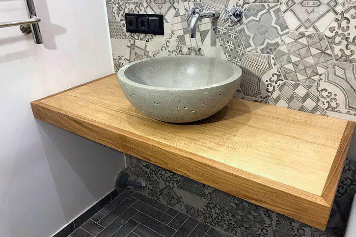Раковины для ванной комнаты со столешницей (95 фото): полотна под круглые литые и акриловые чаши, как сделать своими руками, стеклянные и деревянные