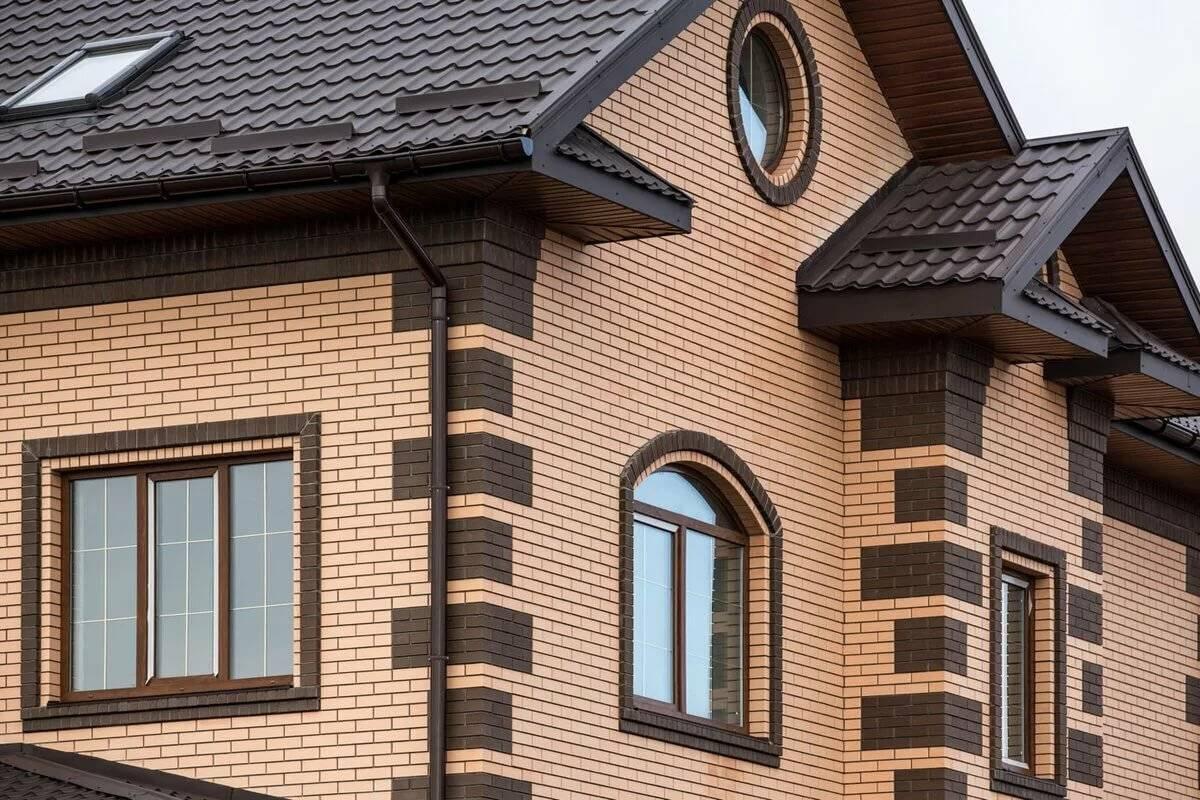 Показать варианты отделки для фасада облицовочным кирпичом
