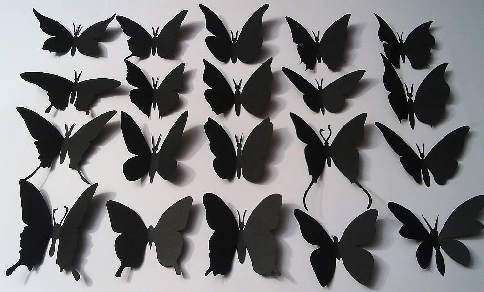 Бабочки для декора своими руками: из бумаги, объемные, трафареты