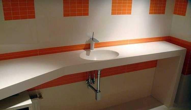 Столешница в ванную своими руками: используемые материалы и технология самостоятельного изготовления