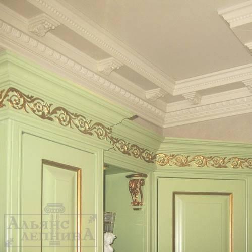 Современная лепнина на потолке: как сделать своими руками