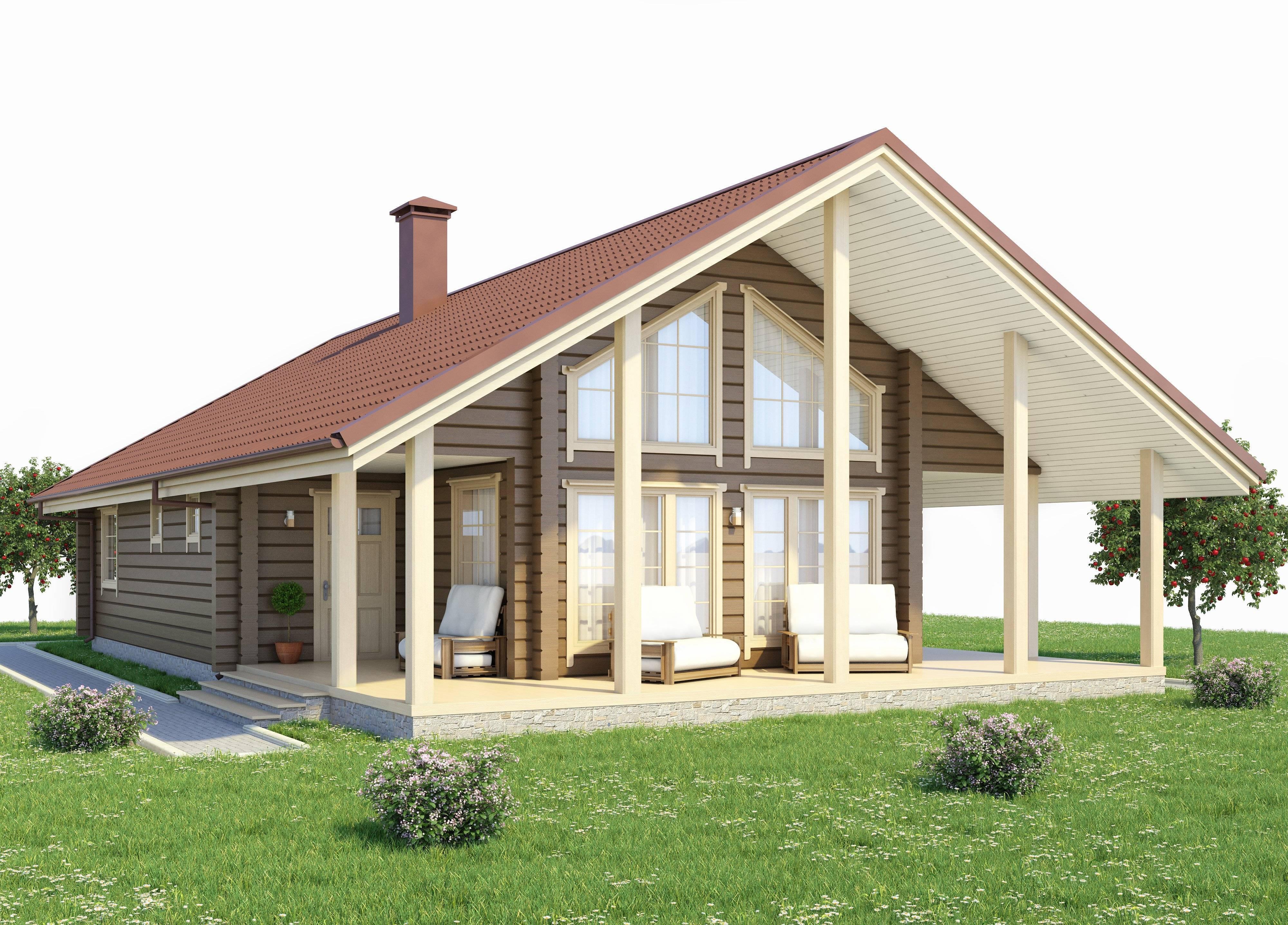 Архитектура дома в стиле шале, фото